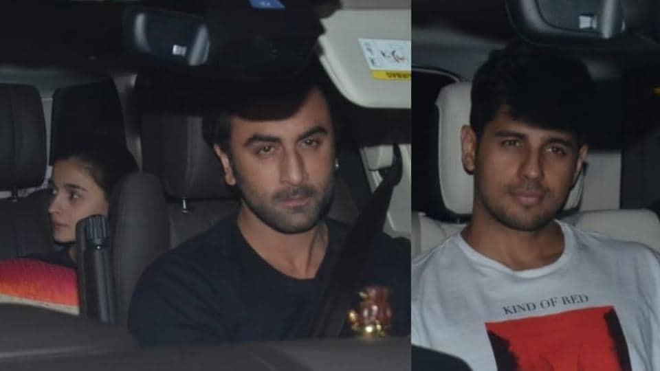 Ranbir Kapoor,Alia Bhatt,Sidharth Malhotra