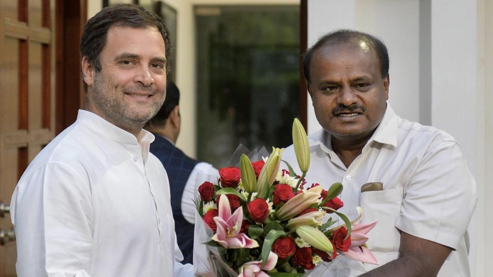 The Karnataka CM became the latest leader after the DMK's MK Stalin, RJD's Lalu Prasad Yadav and actor-politician Rajinikanth to urge Rahul Gandhi not to step down as the Congress president.