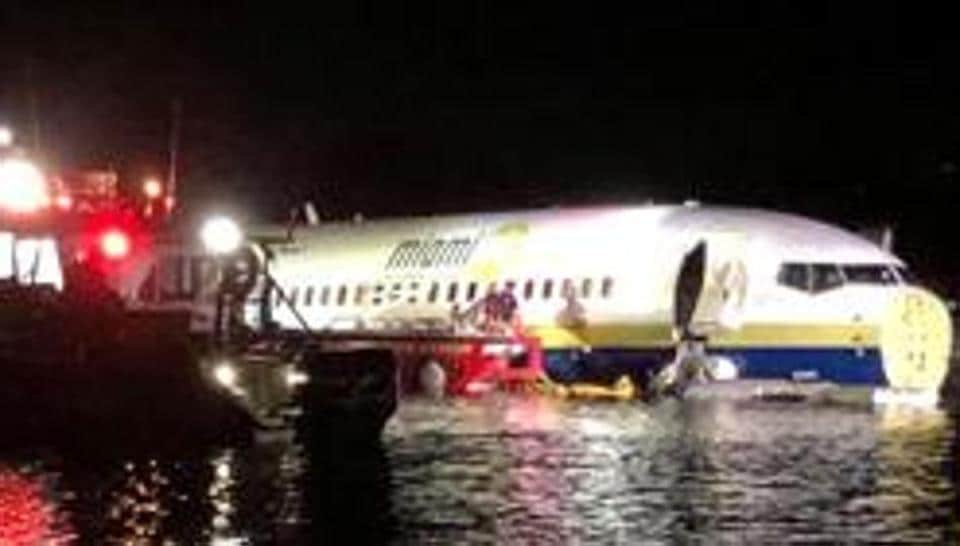 A Boeing 737 crashed  in Jacksonville, Florida, U.S. May 3, 2019 .