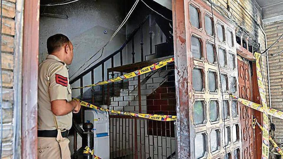 Firefighters doused the flames and rescued the girls who were trapped in the smoke-filled basement, ground and first floors of the girls' hostel in Janakpuri.