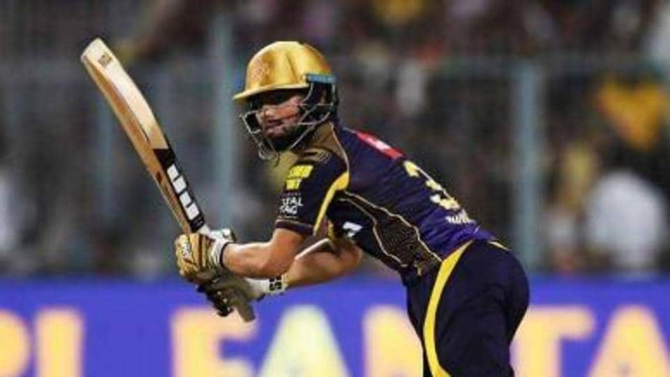 Rinku Singh in action during the Indian Premier League