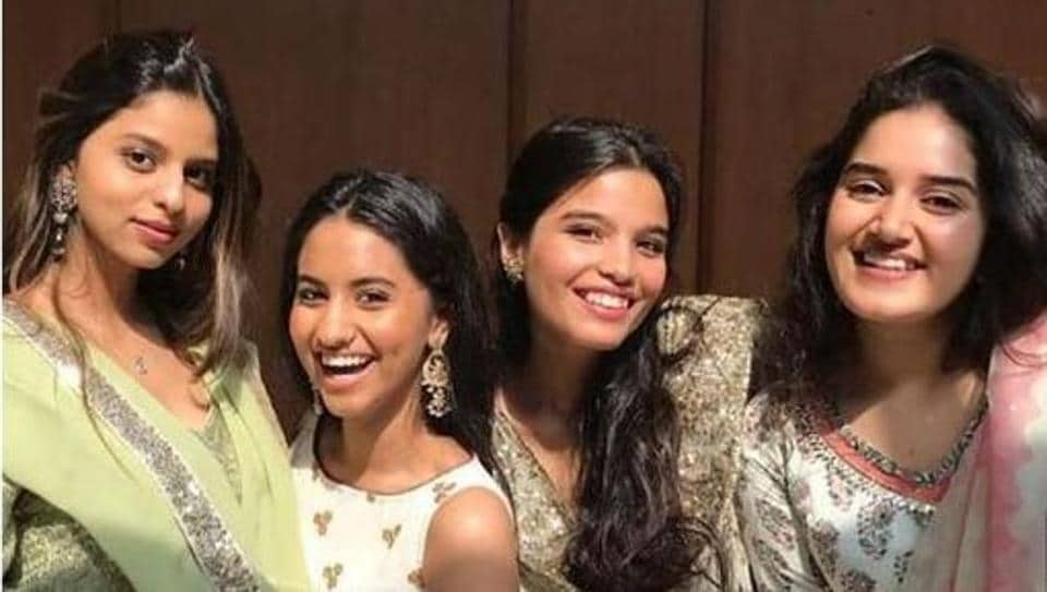 Suhana Khan looks stunning as she attends a family wedding