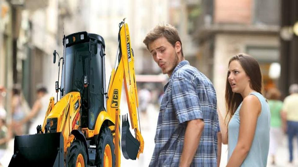 Indians are busy making memes and GIFs of JCB excavators.
