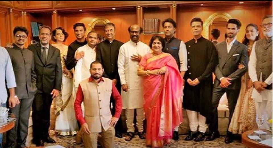 Bollywood was represented by Prasoon Joshi, Aanand L Rai, Kangana Ranaut, Sushant Singh Rajput, Rajkumar Hirani, Rajinikanth and wife Latha, Abhishek Kapoor and Karan Johar at PM Narendra Modi swearing-in ceremony.