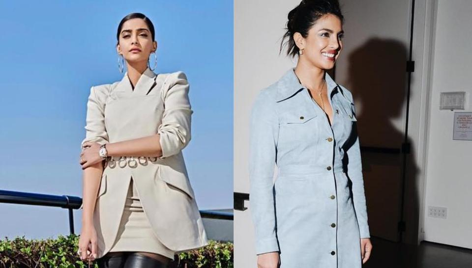 Priyanka Chopra andSonam Kapoor show you how to style tiny bags.