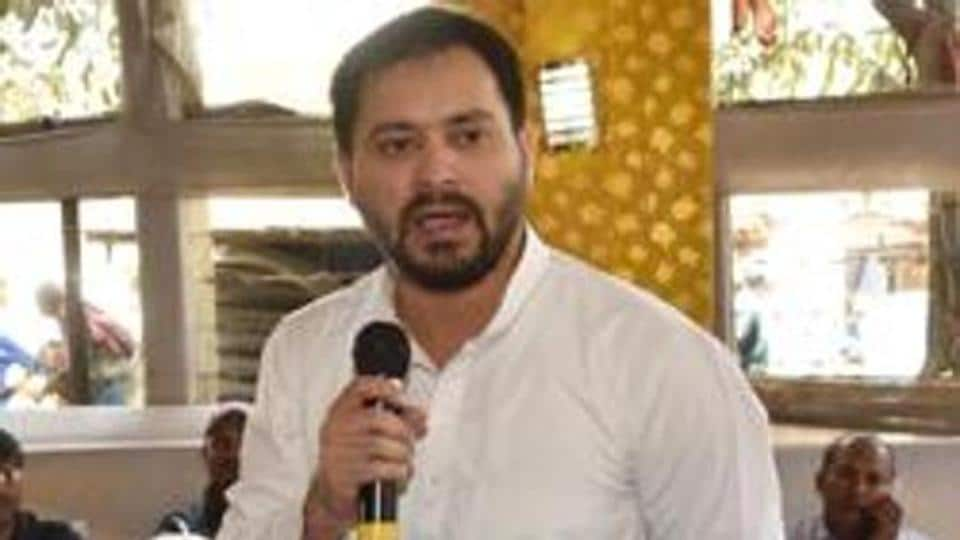 Tejashwi Prasad Yadav, scoffed at reports of a growing rift in the GA, saying the alliance was united and intact. Photo Santosh Kumar/Hindustan Times)