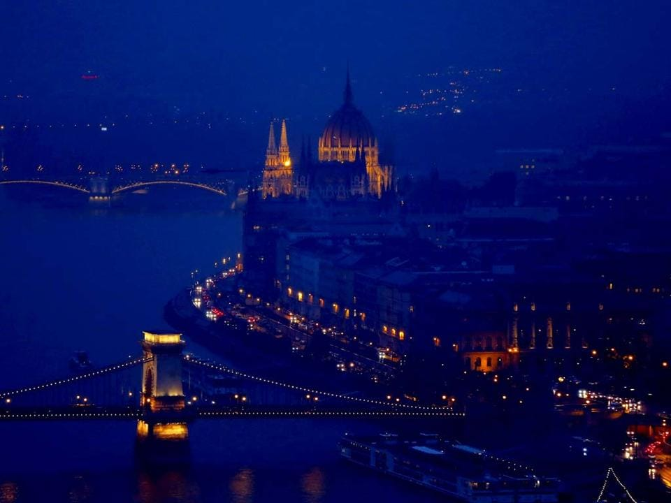 The sunken boat was located early Thursday near the Margit Bridge, not far from the neo-Gothic Parliament building on the Danube river bank.