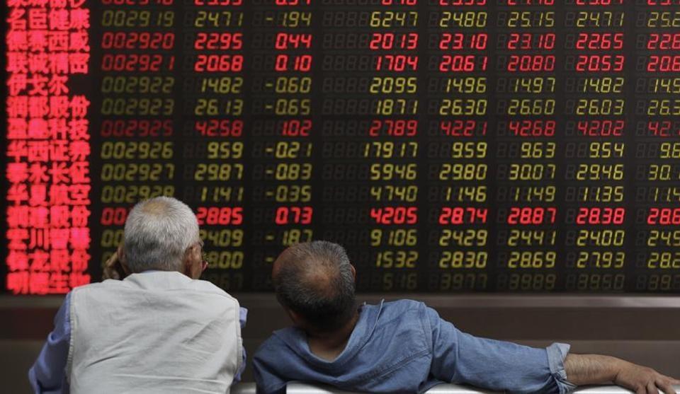 The Shanghai Composite Index fell 0.8% and Hong Kong's Hang Seng lost 0.35%.