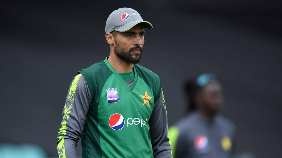 Mohammad Amir of Pakistan at The Kia Oval on May 07, 2019 in London, England. (Photo by Gareth Copley/Getty Images)