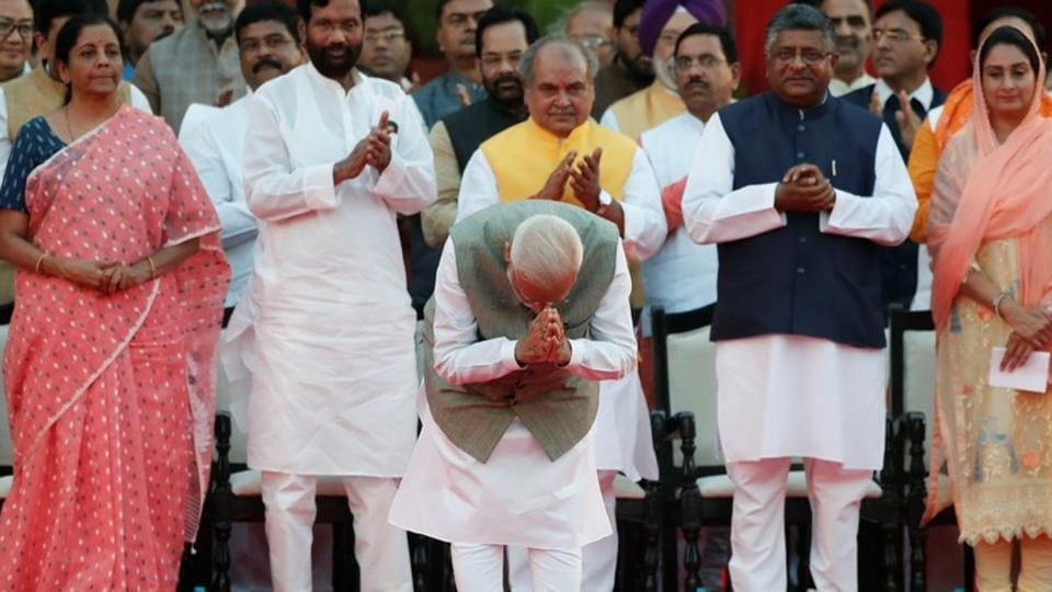 PM Narendra Modi,PM Modi swearing in,PM Modi oath ceremony