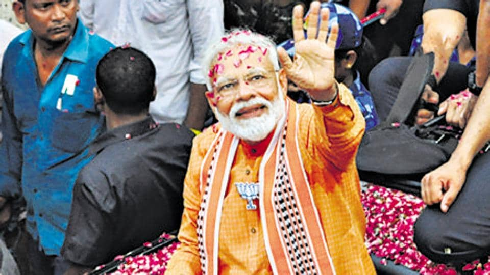 On Monday, Prime Minister Narendra Modi paid a day-long visit to his parliamentary constituency of Varanasi.