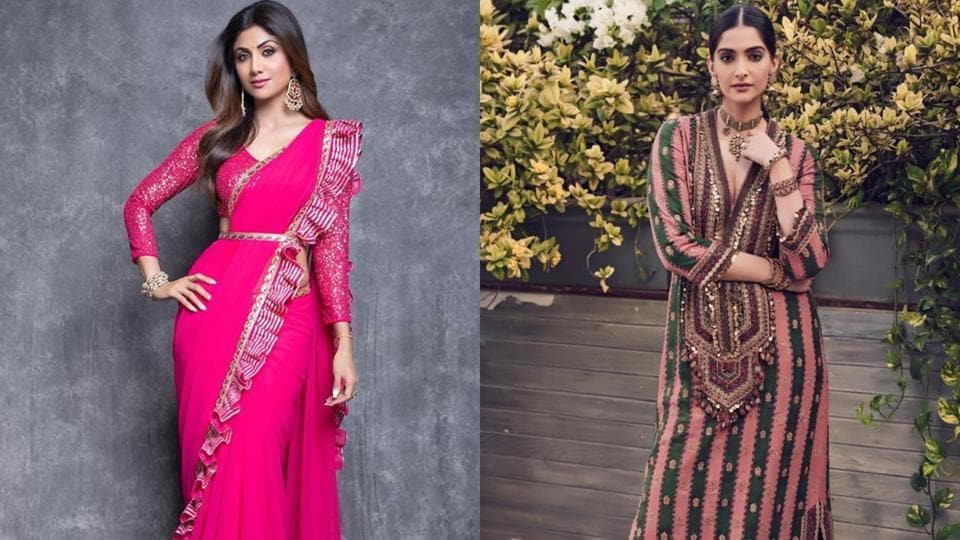 Take inspiration from Shilpa Shetty and Sonam Kapoor for your festive outfits.