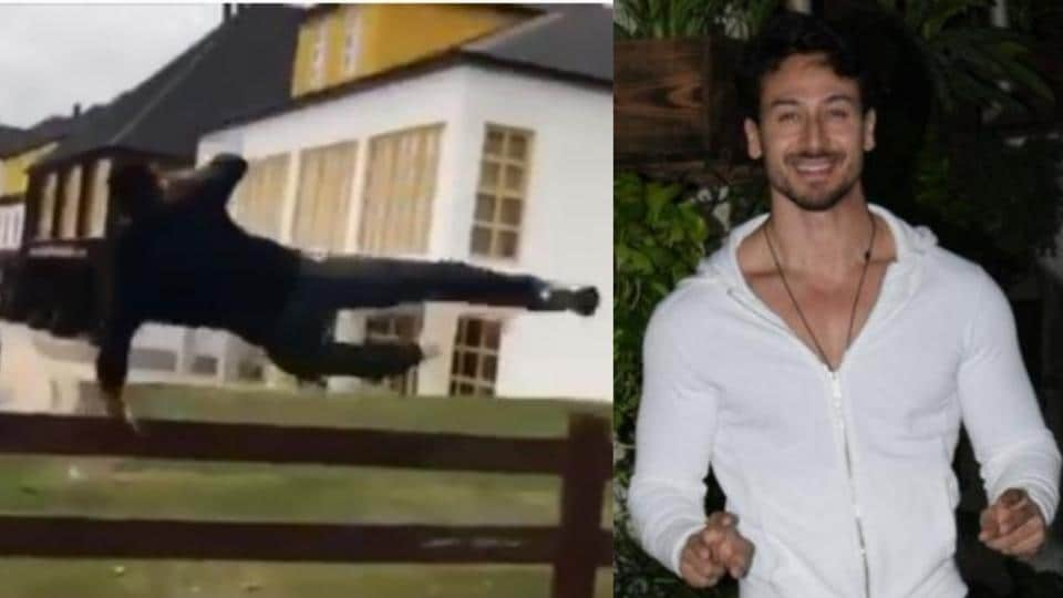 Tiger Shroff shared a video of his morning jog on Instagram.