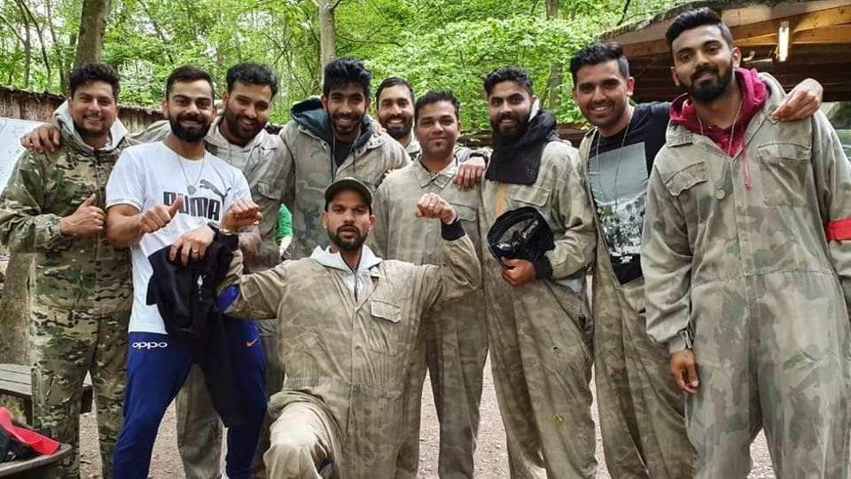 Virat Kohli & Co taking part in a 'team bonding' session ahead of the ICC World Cup 2019 opener.