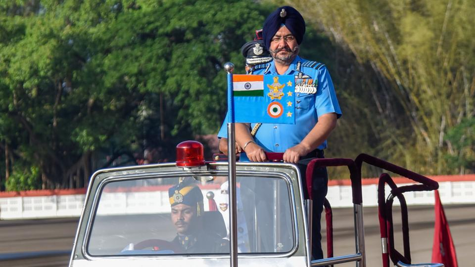 Air Chief Marshal BS Dhanoa  during the  passing out parade of 136th course of National defence Academy at Khetarpal Parade ground of the NDA Khadakwasla campus, on Thursday.
