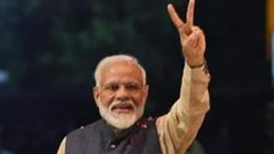 As he took the oath of office for a second time as PM, Narendra Modi set a new benchmark