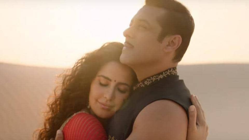 Salman and Katrina in a still from Chashni, a song from Bharat.
