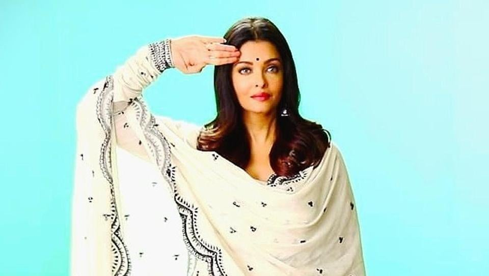 Happy Productions India tweeted a picture of Aishwarya Rai from the recording.
