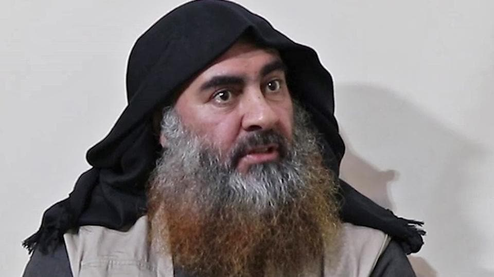 The claims that Nisrine Assad Ibrahim helped CIA and Kurdish intelligence build detailed portraits of Baghdadi's movements, hideouts and networks, emerged in Sayyaf's first interview since being captured in a Delta Force raid in Syria four years ago. In this undated tv grab taken from a video released by Al-Furqan media, the chief of the Islamic State group Abu Bakr al-Baghdadi purportedly appears for the first time in five years in a propaganda video in an undisclosed location.
