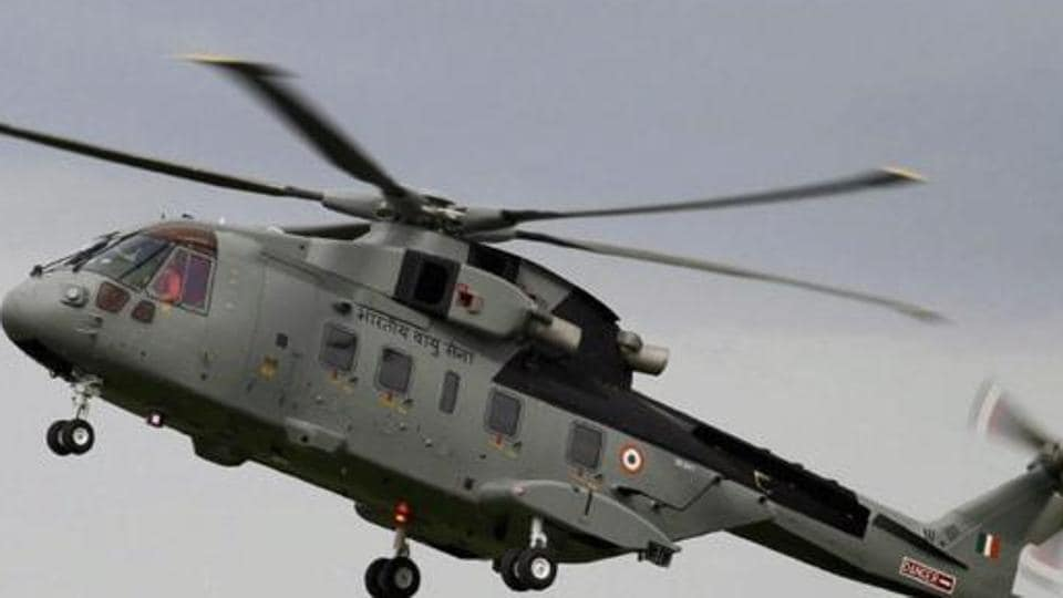 A file photo of AgustaWestland (AW101) VVIP Airforce Helicopter