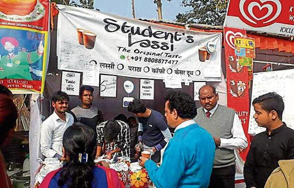 The USP of the stall was the 'desi' drink in wide range of flavours such as chocolate, strawberry, butterscotch and roohafza.