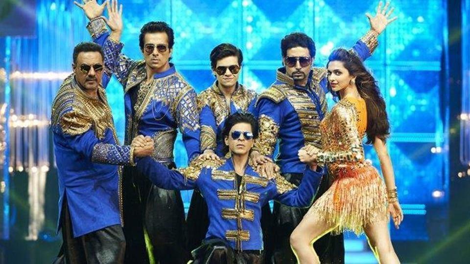 Shah Rukh Khan, Deepika Padukone, Abhishek Bachchan, Boman Irani and