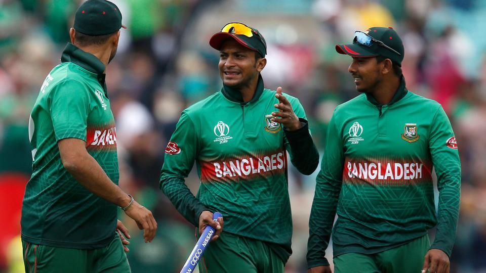 Bangladesh's players including Shakib Al Hasan (C) celebrate after victory over South Africa by 21 runs. (AFP)