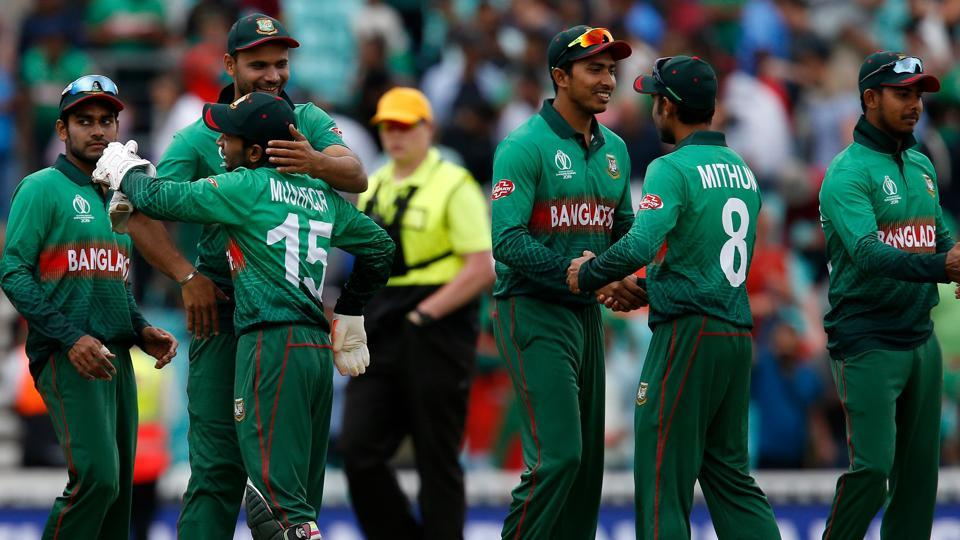 Bangladesh's players celebrate after victory over South Africa by 21 runs. (AFP)