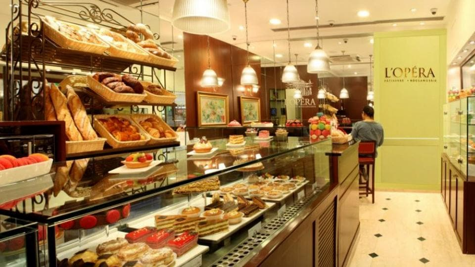 A view of Le Oepra bakery, at Galleria Market, DLF phase-4, in Gurugram.