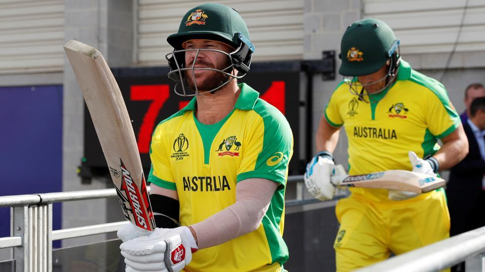 Australia's David Warner and Aaron Finch come out to bat. (Action Images via Reuters)