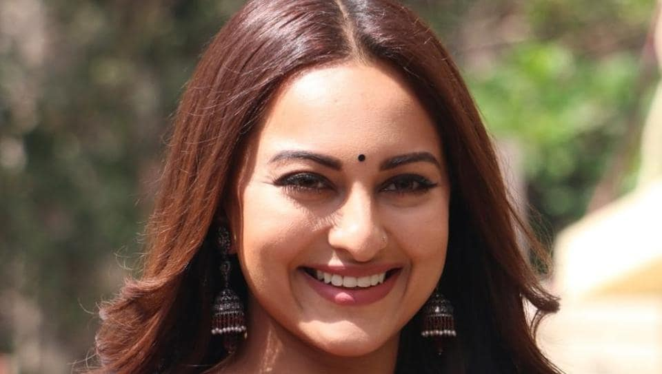 Actor Sonakshi Sinha at the trailer launch of Kalank in Mumbai on April 3, 2019.