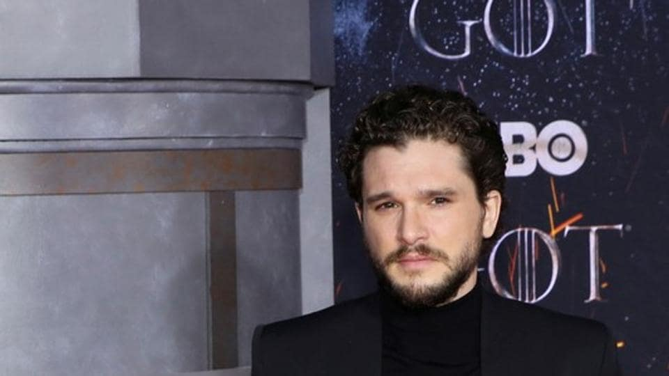 Kit Harington arrives for the premiere of the final season of
