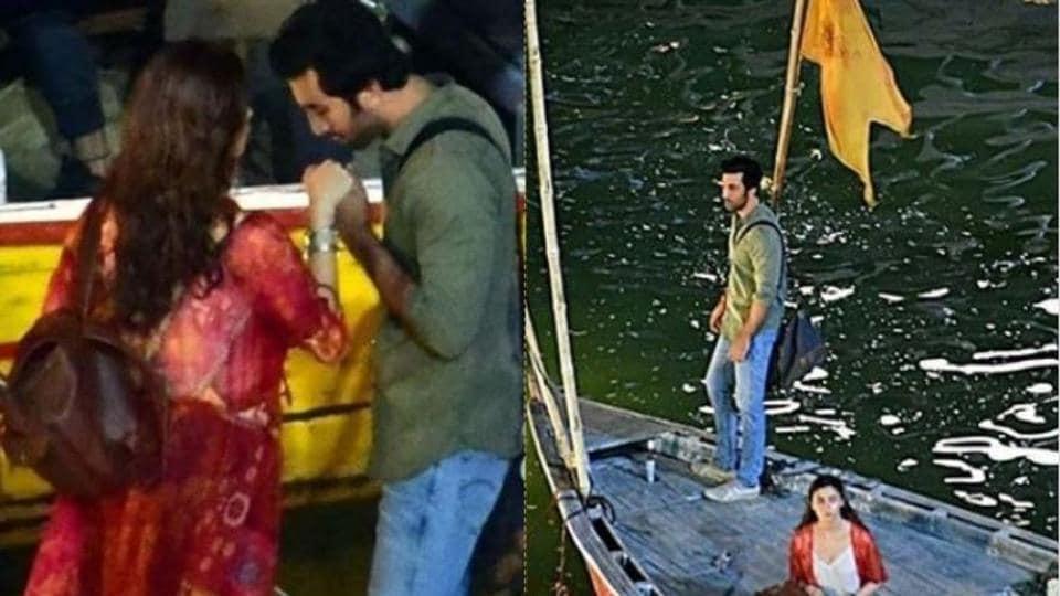Ranbir Kapoor, Alia Bhatt on the sets of Brahmastra in Varanasi.