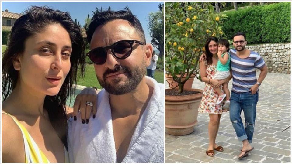 KareenaKapoor and Saif Ali Khan are in Tuscany with their son Taimur.