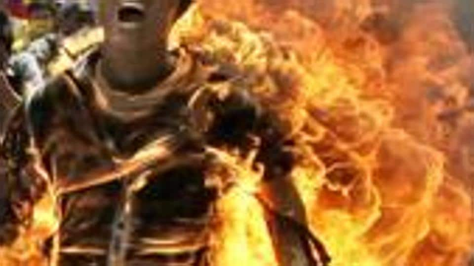 Dhanbad,self-immolation,Mohammed S Sheikh