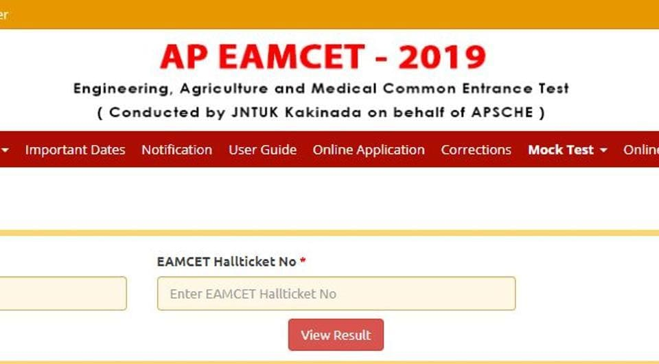 Andhra Pradesh State Council of Higher Education (APSCHE) on Tuesday declared the results for Andhra Pradesh Engineering Agricultural Medical Common Entrance Test (AP EAMCET) 2019.