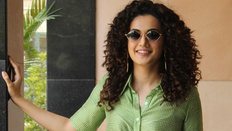 Taapsee Pannu during the promotion of her upcoming film Game Over.