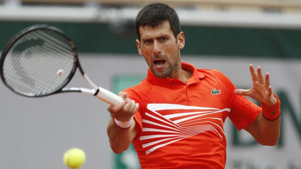 Serbia's Novak Djokovic in action during his fourth round match against Germany's Jan-Lennard Struff.