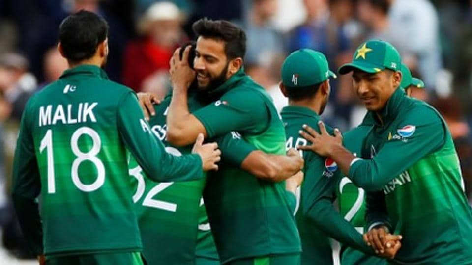File image of players of Pakistan cricket team in action during a match.