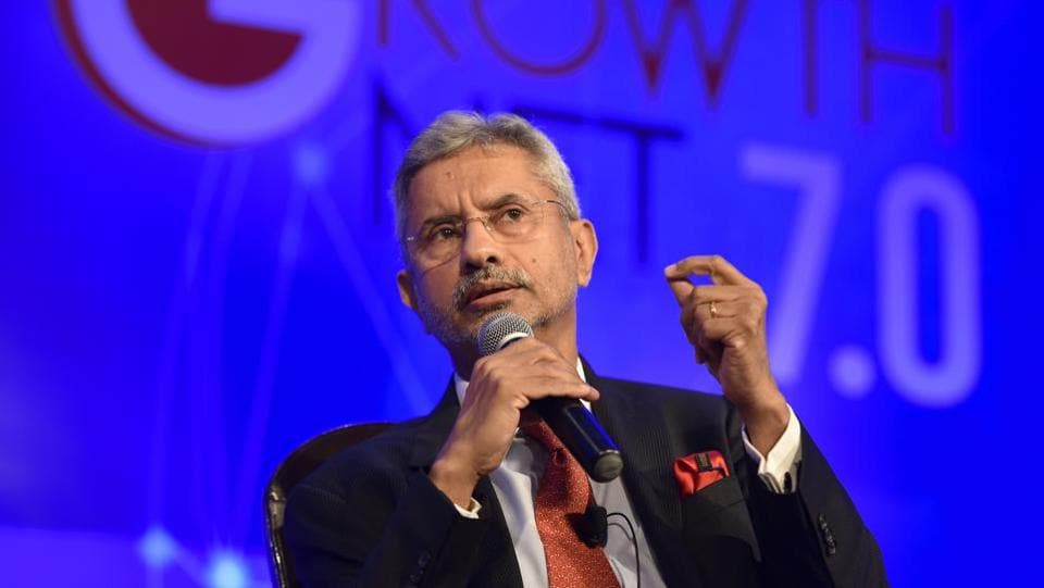 "SAARC has its problems while BIMSTEC has energy and possibility, external affairs minister S Jaishankar said on Thursday. ""Even if you were to put terrorism aside…there are connectivity and trade issues. BIMSTEC leaders were invited for the Prime Minister's swearing-in because we see energy, mindset and possibility in that grouping,"" he said at The Growth Net summit. (Vipin Kumar / HT Photo)"