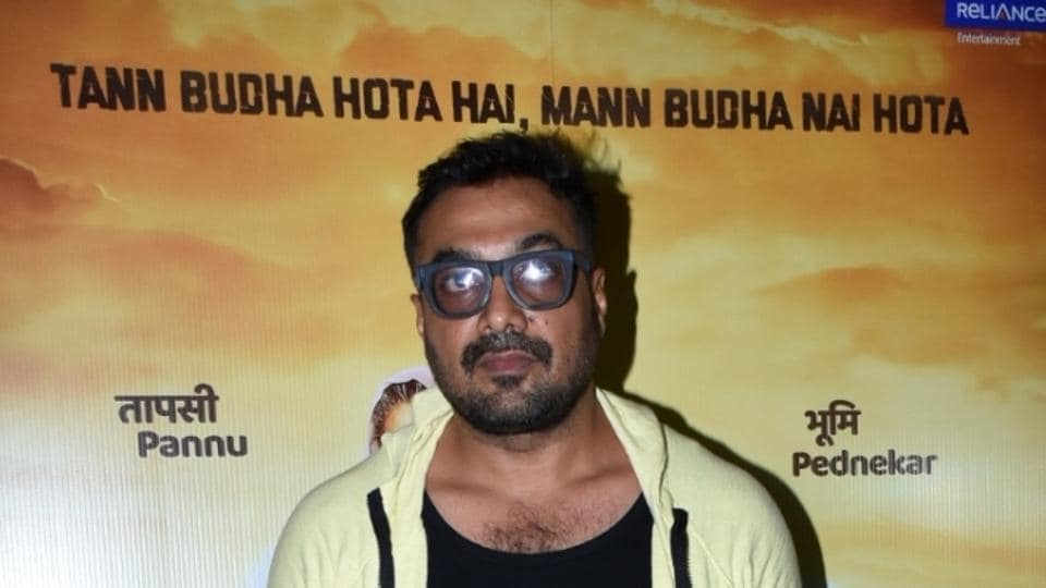 Producer Anurag Kashyap at the wrap-up party of his upcoming film Saand Ki Aankh in Mumbai on May 2, 2019.