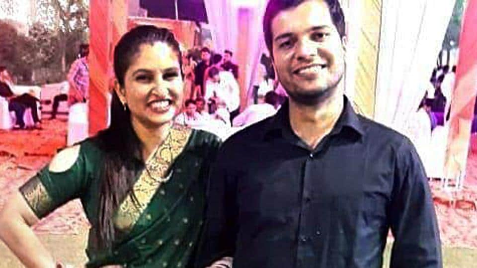 File picture of missing IAF AN-32 Pilot Ashish Tanwar and his wife Sandhya, who works in Air Traffic Control (ATC) was on duty when the flight took off from the base at 12.25 pm for the advanced landing ground at Mechuka in Arunachal Pradesh.