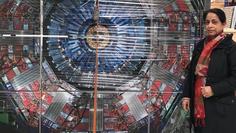 Panjab University scientist Manjit Kaur at the Large Hadron Collider (LHC) based at the European Laboratory for Particle Physics CERN, near Geneva in Switzerland.