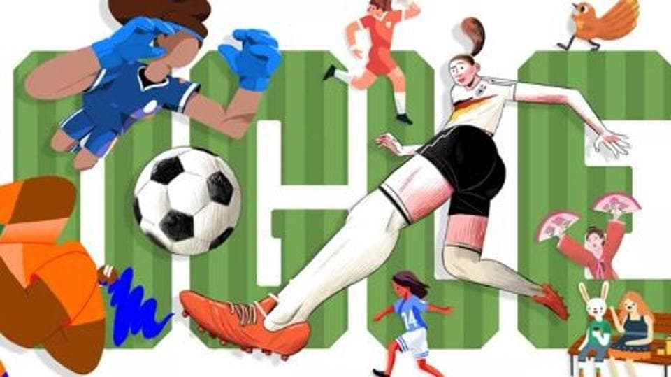 Google marked the commencement of the 2019 Women's World Cup in France with a doodle created around the teams participating in the event.