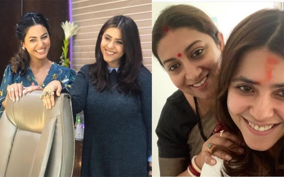 Ekta Kapoor,Smriti Irani,Hina Khan