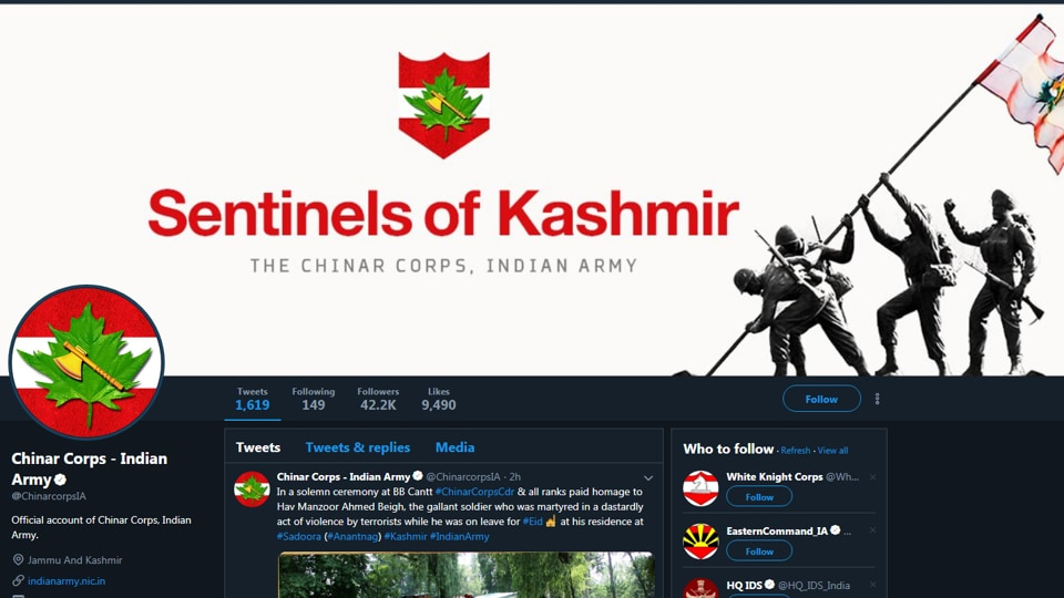 Indian Army,Indian army twitter account suspended,twitter