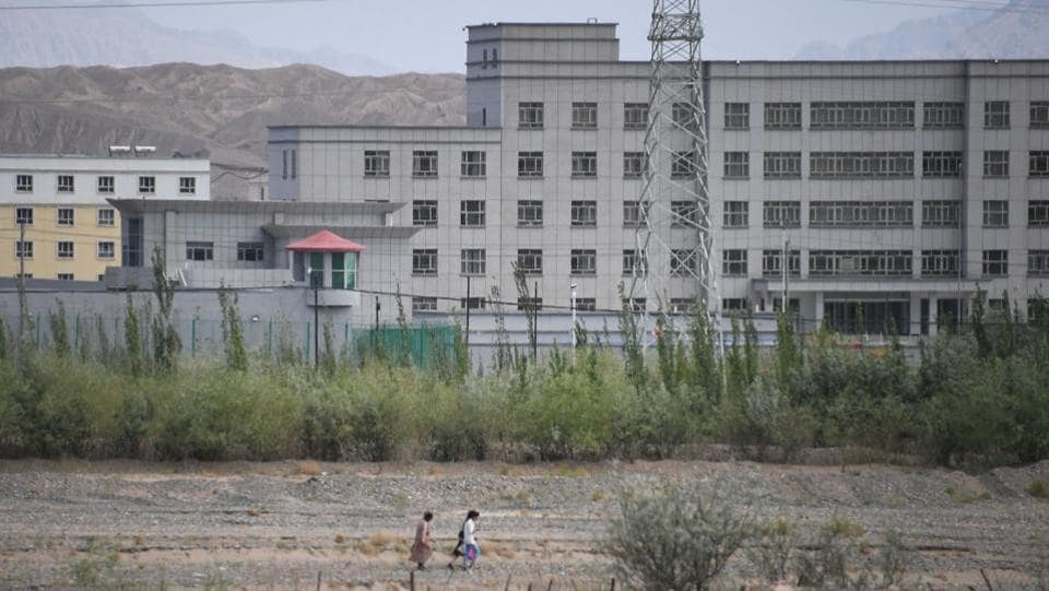 A facility believed to be a re-education camp where mostly Muslim ethnic minorities are detained, in Artux, north of Kashgar.  An estimated one million Uighurs and other Turkic-speaking ethnic groups are held in a vast network of internment camps. (Greg Baker / AFP)