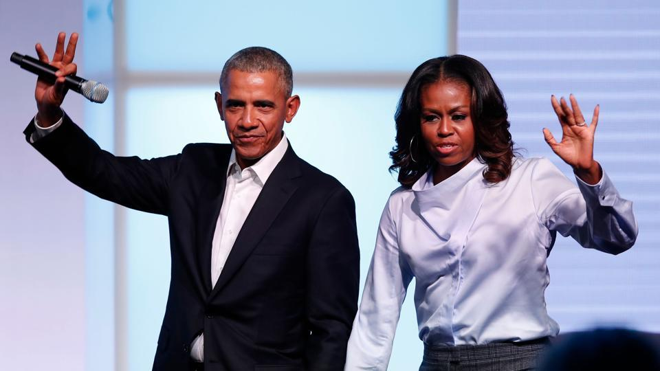 Barack and Michelle Obama's production company Higher Ground has signed a deal with Spotify to create a series of podcasts for the music streaming service, which is seeking to diversify its content.
