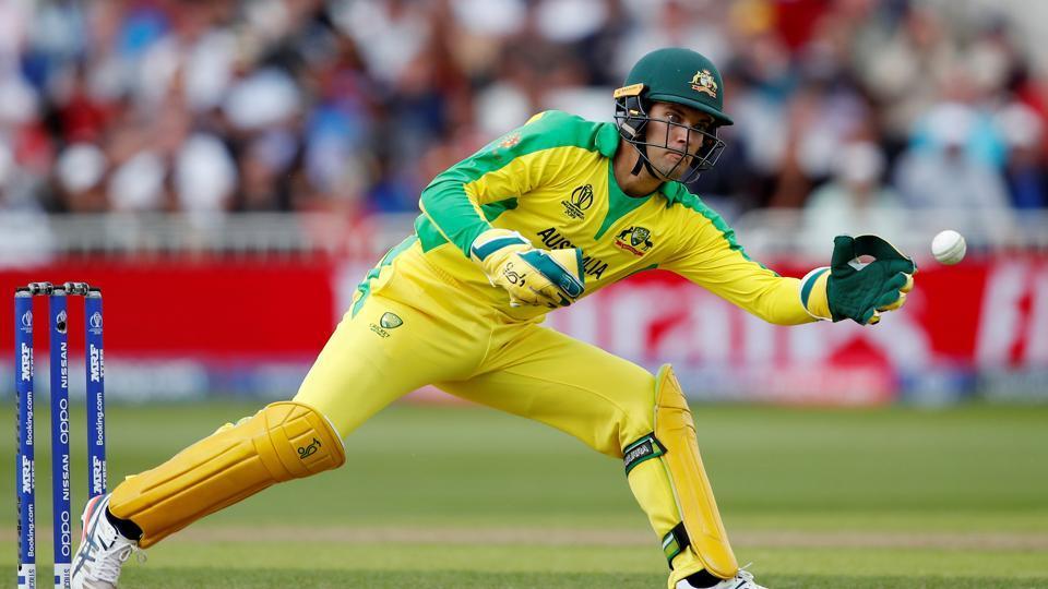 Cricket - ICC Cricket World Cup - Australia v West Indies - Trent Bridge, Nottingham, Britain - June 6, 2019 Australia's Alex Carey in action