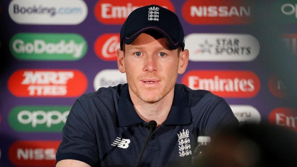 England's Eoin Morgan during a press conference